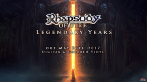 Raphsody of fire legendary years announcement