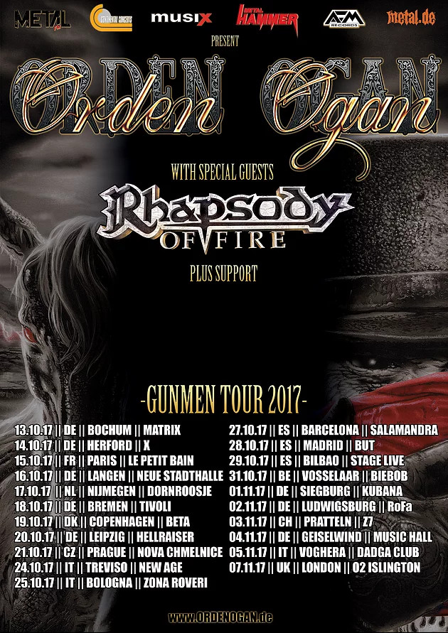 rhapsody of fire 2017 tour